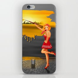 An artist paints his life colorful iPhone Skin