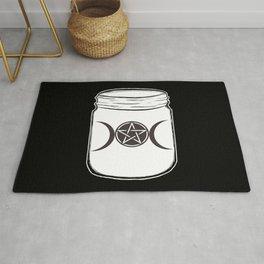 Mystical Magic Moons Mason Jar Rug