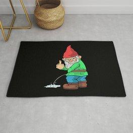 Garden Gnome Middelfinger Funny Garden Spot Gnomes Gift Rug