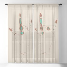 Love Language Sheer Curtain