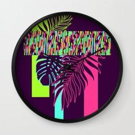 Neon Exotic #society6 #tropical Wall Clock