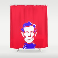 lincoln Shower Curtains featuring Lincoln by Mylittleradical