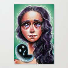 Violette :: Purple Haired Little Scamp Canvas Print