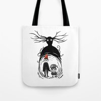 over the garden wall Tote Bags featuring Over the Garden Wall by Joana Shino
