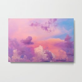 Pink Purple Clouds Metal Print