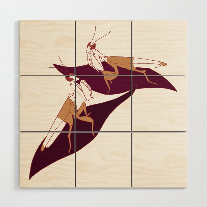 Orchid Mantids Wood Wall Art