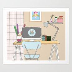 workplace Art Print