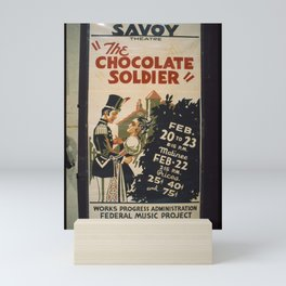 Vintage American WPA Poster - 'The Chocolate Soldier' at the Savoy Theatre, San Diego (1937) Mini Art Print