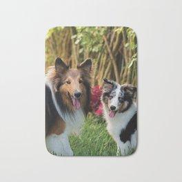 Cute sheltie dogs Bath Mat