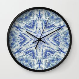 Pixelized Kaleidoscope Wall Clock