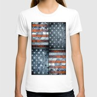 american flag T-shirts featuring American flag by Bekim ART