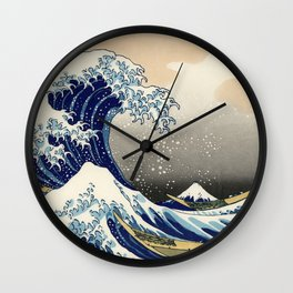 Katsushika Hokusai, The Great Wave off Kanagawa, 1831 Wall Clock