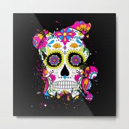 Sugar Skull Art Metal Print