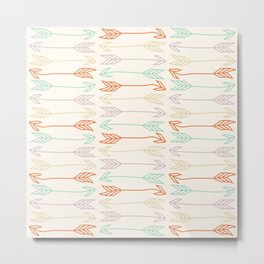 Summer Colorful Arrows Stripes Pattern Metal Print