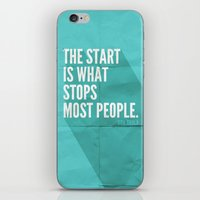 sayings iPhone & iPod Skins featuring The Start by Zeke Tucker