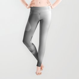 Peony in Black and White Leggings