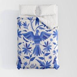 Mexican Otomí Design in Deep Blue Comforters