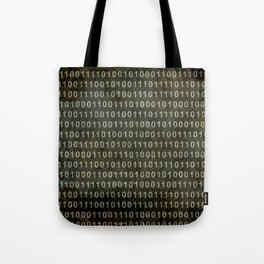 Binary Code - Distressed textured version Tote Bag