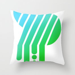 Saturated S Throw Pillow