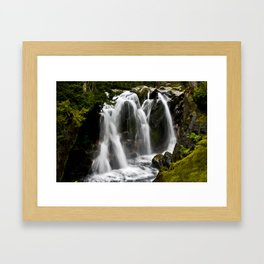 Waterfall on Paradise River Framed Art Print