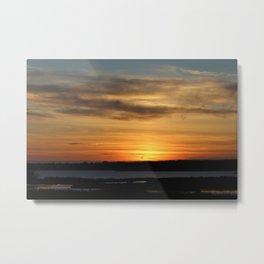 Topsail Beach Sunset Metal Print