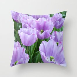 Mauve tulips Throw Pillow