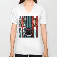 rush V-neck T-shirts featuring Rush by milanova