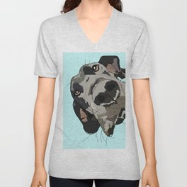 Great Dane In Your Face Unisex V-Neck
