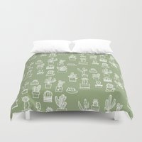 cactus Duvet Covers featuring Cactus  by Chee Sim