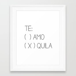 Tequila Framed Art Print