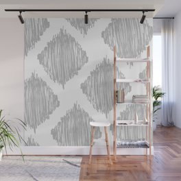 Gray Scribble Diamonds Wall Mural