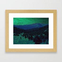 The Sleeping Mountains Framed Art Print