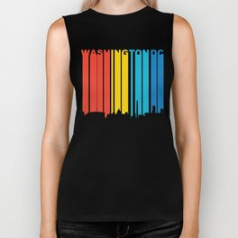 Retro 1970's Style Washington DC Skyline Biker Tank