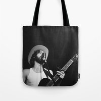 "cowboy Tote Bags featuring ""Cowboy"" by Luke Lindgren"