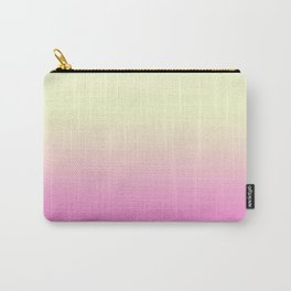 Ombre gradient digital illustration pink yellow colors Carry-All Pouch