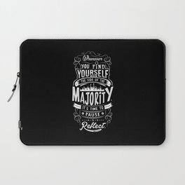 Lab No. 4 Whenever You Find Yourself Mark Twain Quotes Laptop Sleeve