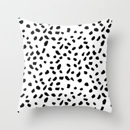 Brush Stroke Dots Throw Pillow