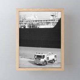 Fire truck and tanker Framed Mini Art Print