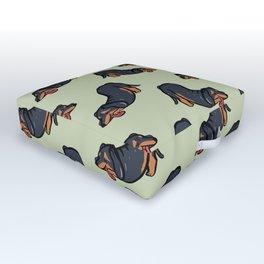 Dachshund stretching Outdoor Floor Cushion