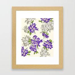 Purple Crocus Framed Art Print