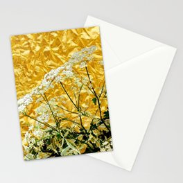 GOLDEN LACE FLOWERS FROM SOCIETY6 BY SHARLESART. Stationery Cards