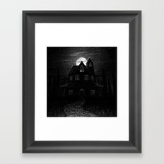 Drawlloween 2104: Haunted House Framed Art Print