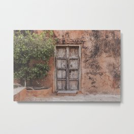Door Jaigarh Fort Rajasthan Metal Print