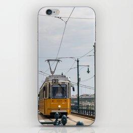 Yellow Budapest Tram Photography iPhone Skin