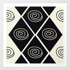 African Tribal Pattern No. 39 Art Print