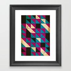 blocked Framed Art Print