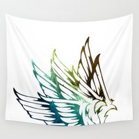 wings Wall Tapestries featuring Wings by cheyannedawn966