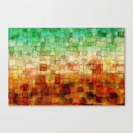 Golden Tide Mosaic Canvas Print