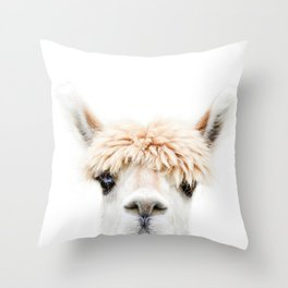 Alpaca Bangs Throw Pillow