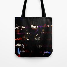 Glowing letters Tote Bag
